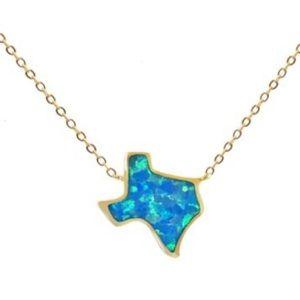 Texas Fire Opal necklace (blue opal)